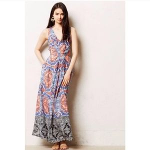 Anthropologie Maeve Silk Maxi Dress